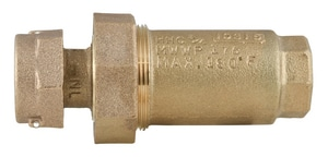 Ford Meter Box Meter Swivel x FIP Brass Straight Dual Cartridge Check Valve FHHC31NL