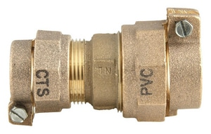Ford Meter Box CTS Pack Joint x Pack Joint Brass Reducing Coupling FC47NL