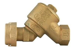 Ford Meter Box Meter Swivel x FIPT Brass Straight Dual Cascading Check Valve FHHS31NL