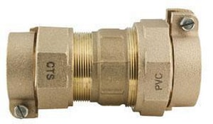 Ford Meter Box CTS Pack Joint x Pack Joint Brass Coupling FC477NL