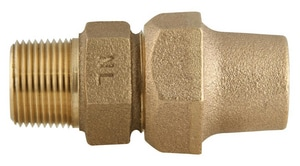 Ford Meter Box Flared Copper x MIP Brass Coupling FC28NL
