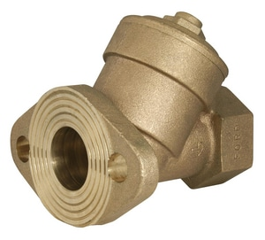Ford Meter Box Meter Flanged x FIP Brass Straight Check Valve FHFS31NL