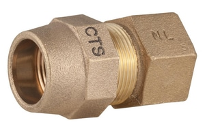 Ford Meter Box FIP x CTS Brass Reducing Coupling FC141GNL