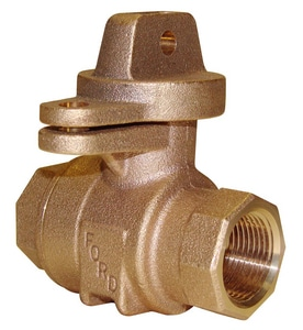 Ford Meter Box 1 in. FIP Water Service Brass Ball Valve Curb Stop FB11344WNL