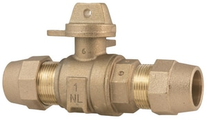 Ford Meter Box Valve with Quick Joint for Copper Or Plastic Tubing Both End FB44333WGNL