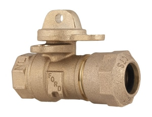 Ford Meter Box 3/4 in. FIP x CTS Quick Joint Water Service Brass Ball Valve Curb Stop FB41233WQNL