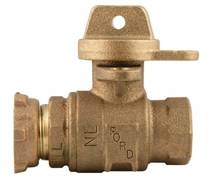 Ford Meter Box FIP No-Lead Ball Valve FB91323WNL