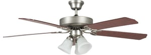 Sunset Lighting and Fans Heritage Home 5-Blade Ceiling Fan with Light Kit in Satin Nickel SCF5283653L