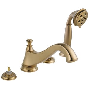 Delta Faucet Cassidy™ 4-Hole Roman Tub Faucet Trim (Less Handle) with Hand Shower DT4795LHP