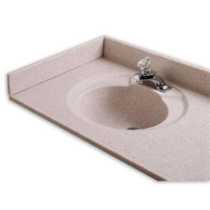 American Standard Astra-Lav™ 22 x 22 in. 3-Hole Marble Right Hand Sidesplash ACMB8224