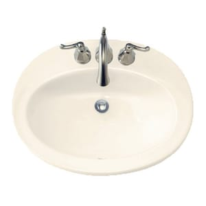 American Standard Piazza™ 3-Hole Drop-In Countertop Oval Lavatory Sink A0478403