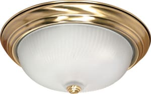 Nuvo Lighting 60W 3-Light 120V Flushmount Ceiling Fixture N60239