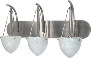 Nuvo Lighting South Beach 60W 3-Light Vanity Fixture in Brushed Nickel N60136