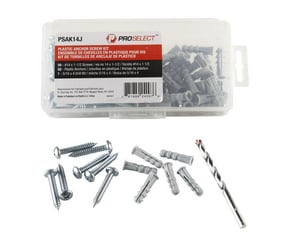 PROSELECT® 14 in. Plastic Anchor Kit 50 Pieces PSAK14J