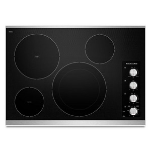 Kitchenaid Architect® 30-13/16 in. Ceramic Glass Electric Cooktop with 4-Radiant Element KKECC604B