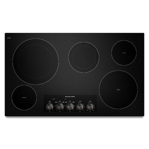 Kitchenaid 36 in. Ceramic Glass Electric Cooktop with 5-Element KKECC664B