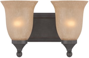 Craftmade International Edgefield 8-3/4 in. 2-Light 100 W Medium Bracket in Oil Rubbed Bronze C28702ORB