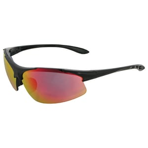 ERB Safety Commandos® Safety Glasses with Black Frame & Red Mirror Lens E18611