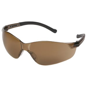 ERB Safety Inhibitor Safety Glasses with Brown Frame E179