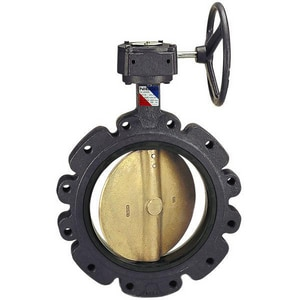 Nibco 150 psi Ductile Iron EPDM Lug Butterfly Valve Gear Operator NLD10225