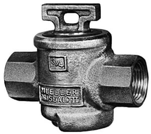 Mueller Industries 1 x 1 in. FIP Curb Valve MH15001NG