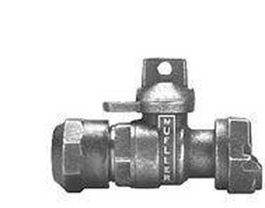 Mueller Industries 1 in. CTS Pack Joint x Meter Ball Valve with Light Weight MP24350RNG
