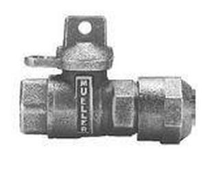 Mueller CTS Compression x FIP Ball Valve with Lock Wing MB25170RN