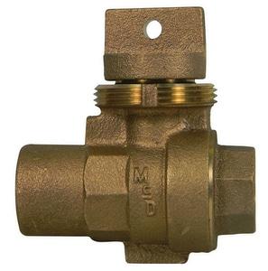 A.Y. McDonald FNPT Brass Curb Stop M76005