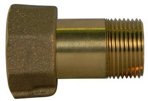 A.Y. McDonald Meter Swivel x MNPT Brass Straight Coupling M74626