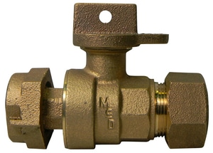 A.Y. McDonald CTS x Meter Straight Ball Valve M76100MWT