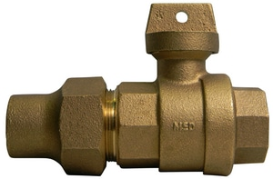 A.Y. McDonald 2 in. Flared x FNPT Brass Ball Valve Curb Stop M76102K
