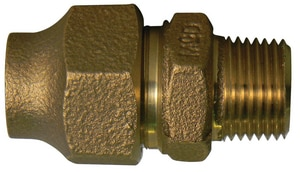 A.Y. McDonald 3/4 x 1 in. Flared x MNPT Brass Coupling M74753FG