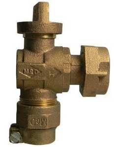 A.Y. McDonald 3/4 in. Angle Stop Ball Meter Valve M74642B22F at Pollardwater