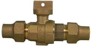 A.Y. McDonald Flared Stop and Drain Brass Curb Stop M76000