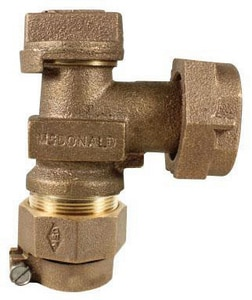 A.Y. McDonald 1 in. Meter Polyethylene Pipe Light Weight Angle Valve M7460233G
