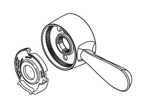 Delta Faucet Handle Assembly DRP73643