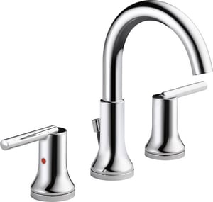 Delta Faucet Trinsic™ 1.5 gpm Double Lever Handle Widespread Bathroom Faucet D3559MPUDST