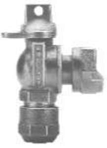 Mueller Industries 3/4 in. CTS Compression x Meter Cast Bronze Angle Ball Valve MB242583NEFF