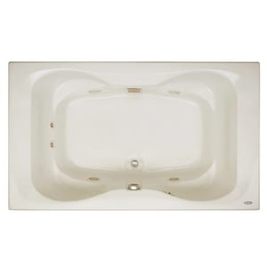 Jacuzzi Mito™ 72 x 42 in. Acrylic Rectangle Drop-In Whirlpool Bathtub with Center Drain and J2 Basic Control JMIT7242WCR2XX