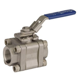 Nibco TM-590-S6-R-66-FS-LL CF8M Stainless Steel Conventional Port NPT 2000# Ball Valve NTM590S6R66FSLL