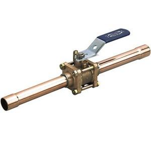 Nibco CS-595-YX-66-EC 3/4 in. Bronze Copper Stub Lever Handle Gas Ball Valve NCS595YX66F