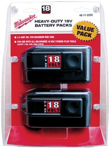 Milwaukee 18V 2.4A Hour Battery 2-Pack M48112232