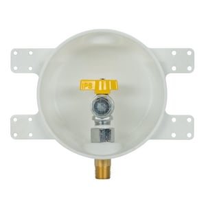 IPS Corporation 3/4 x 1/2 in. Round Gas Outlet Box with Quarter Turn Valve I87860