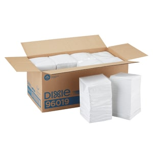 9-1/2 in. Beverage Napkin in White F96019