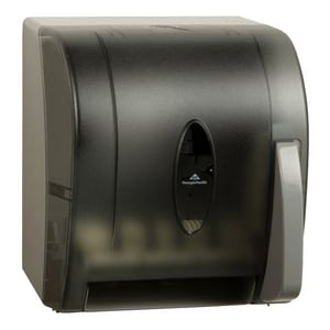 Georgia-Pacific Hygienic Push Roll Towel Dispenser in Translucent Smoke G54338
