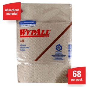 Kimberly Clark WypAll® L20 12-Boxes/Case Wipers in Tan K47000