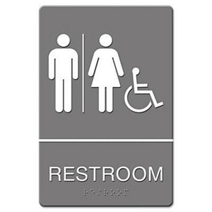 Restroom and Wheelchair Accessible Sign UST48