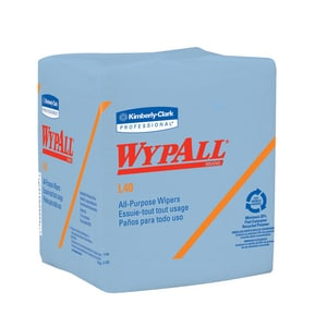 Kimberly Clark WypAll® L40 13 in. Rough-In Folded Wipes in Blue K05776