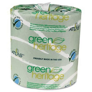 Green Heritage™ 500-Count 4-1/2 in. 2-Ply Bathroom Tissue in White A25GREEN