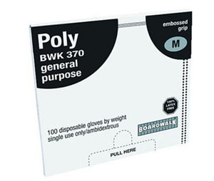 Boardwalk Polyethylene Disposable Plastic Gloves BWK370